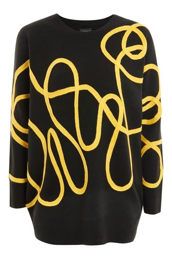 Topshop Corded Pattern Jumper