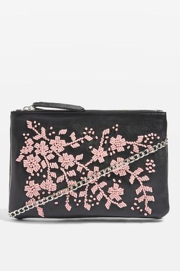 Topshop Azalea Leather Embellished Cross Body Bag