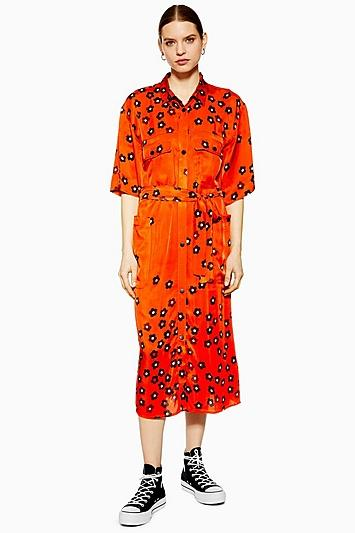Topshop *poppy Utility Dress By Boutique