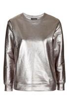 Topshop Luxe Foil Sweatshirt