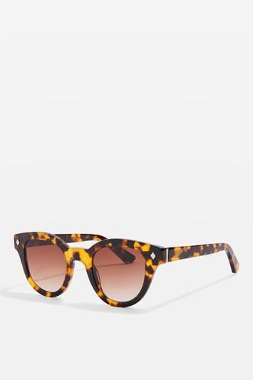 Topshop Premium Acetate Tortoiseshell Sunglasses