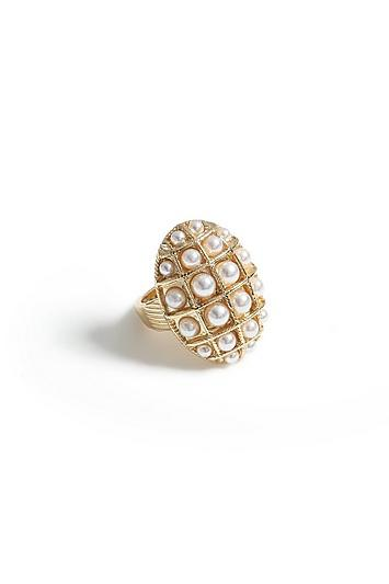 Topshop *pearl Domed Ring