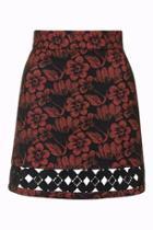 Topshop Crochet Insert A-line Skirt