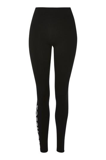 Topshop Topshop Logo Embroidered Leggings
