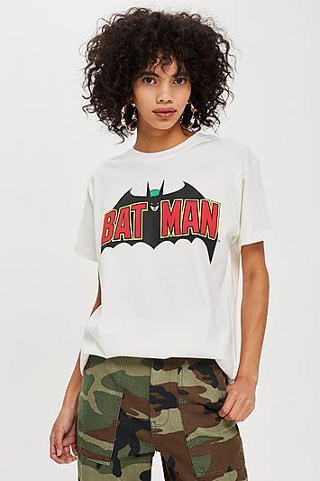 Topshop Batman Logo Boyfriend T-shirt By And Finally