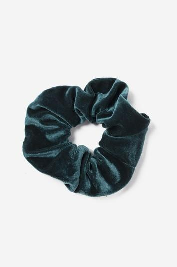Topshop Emerald Velvet Hair Scrunchie