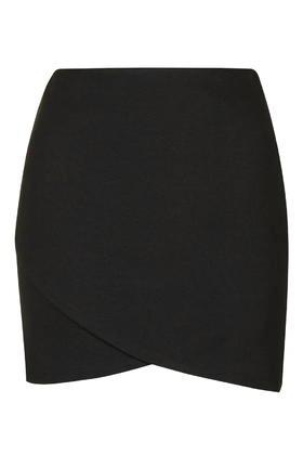 Topshop Curve Wrap Mini Skirt