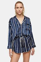 Topshop Navy Stripe Jacquard Pyjama Shorts