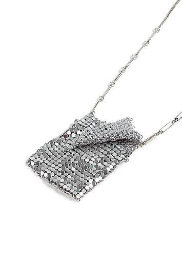 Topshop *chainmail Bag Necklace