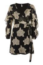 Topshop Petite Ruffle Wrap Dress