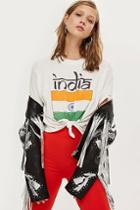 Topshop India Knot Crop T-shirt By Tee & Cake