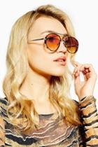 Topshop Alexa Built Pilot Sunglasses