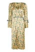 Topshop Peacock Print Midi Wrap Dress