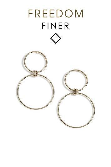 Topshop Finer Circle Link Drop Earrings