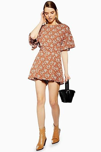 Topshop Ditsy Floral Playsuit