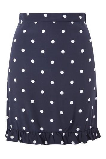 Topshop *polka Dot Frilled Mini Skirt By Nobodys Child