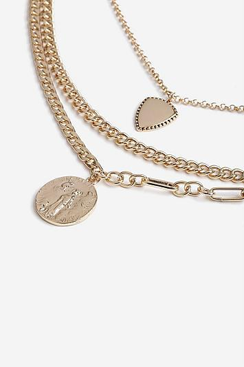 Topshop *chain Multirow Necklace