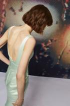 Topshop *satin Midi Dress