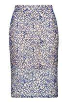 Topshop Tall Cord Lace Pencil Skirt