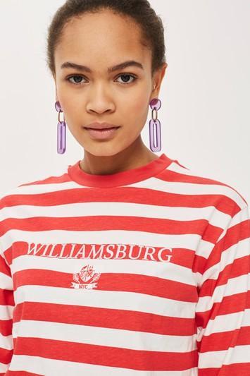 Topshop Tall 'williamsburg' Striped T-shirt