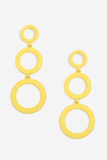 Topshop Graduated Circle Drop Earrings