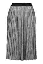 Topshop Petite Marl Pleat Midi Skirt