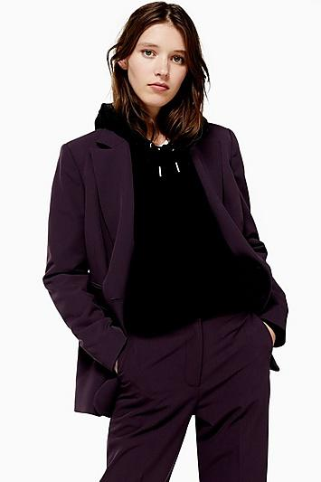 Topshop Double Breasted Lined Blazer