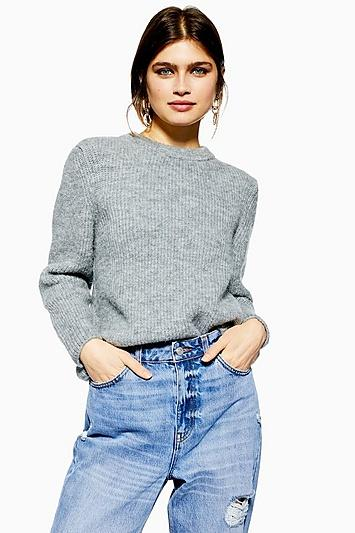 Topshop Petite Super Soft Ribbed Jumper