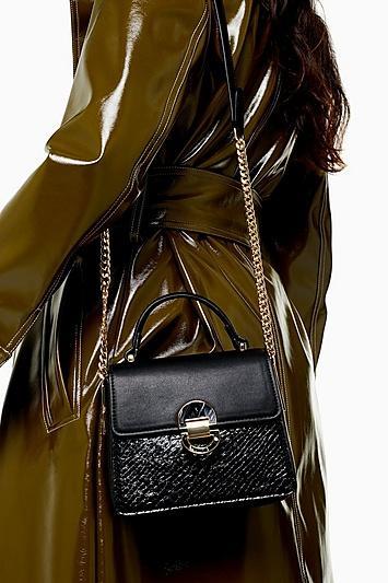 Topshop Celia Black Cross Body Bag