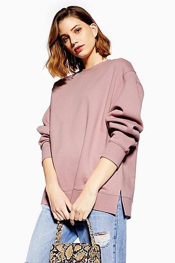 Topshop Split Hem Sweatshirt