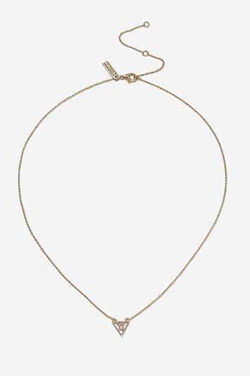 Topshop *gemini Horoscope Ditsy Necklace