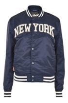 Topshop New York Stadium Jacket By Schott