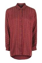 Topshop Oversized Check Shirt