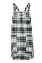 Topshop Petite Gingham Pinafore Dress