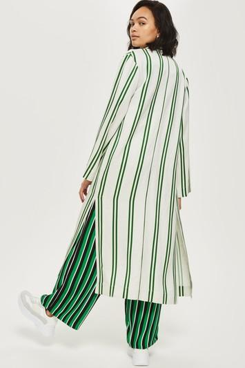 Topshop Striped Duster Coat
