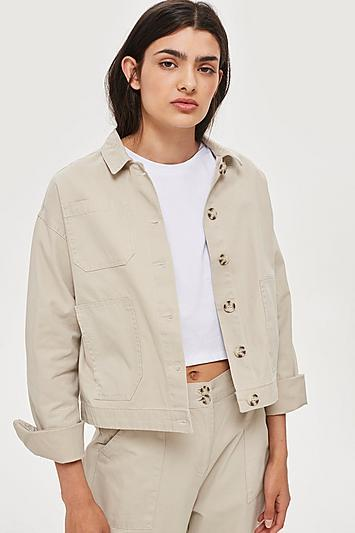 Topshop Awkward Cropped Jacket By Native Youth