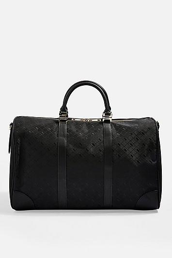 Topshop Madrid Large Jacquard Bowler Bag