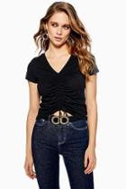 Topshop Ruched Front T-shirt