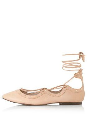 Topshop Flick Lace Up Ghillie Shoes