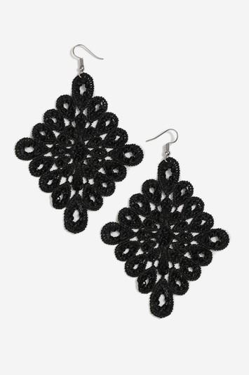 Topshop Crochet Diamond Drop Earrings