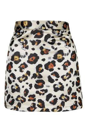 Topshop Leopard Print Mini Skirt