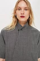Topshop *pinstriped Tailored Top By Boutique