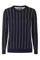 Topshop Pinstripe Knitted Sweat