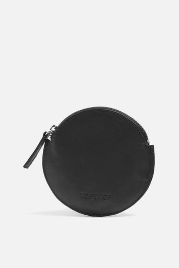 Topshop Pat Leather Round Purse