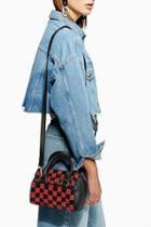 Topshop Checkerboard Bowler Bag