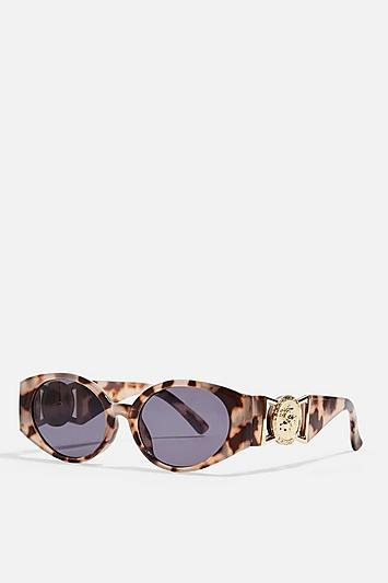Topshop Petrie Oval Sunglasses