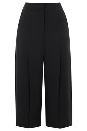 Topshop Petite Soft Pleated Wide Leg Culottes