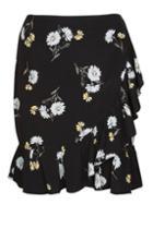 Topshop *kate Daisy Print Ruffle Mini Skirt By Nobody's Child