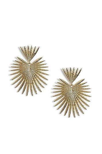 Topshop Spike Leaf Drop Earrings