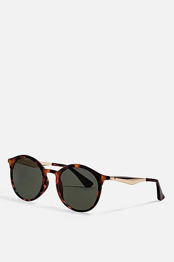 Topshop Luci Preppy Round Sunglasses